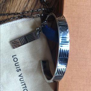 Louis Vuitton Jewelry - Louis Vuitton cuff bracelet and necklace set